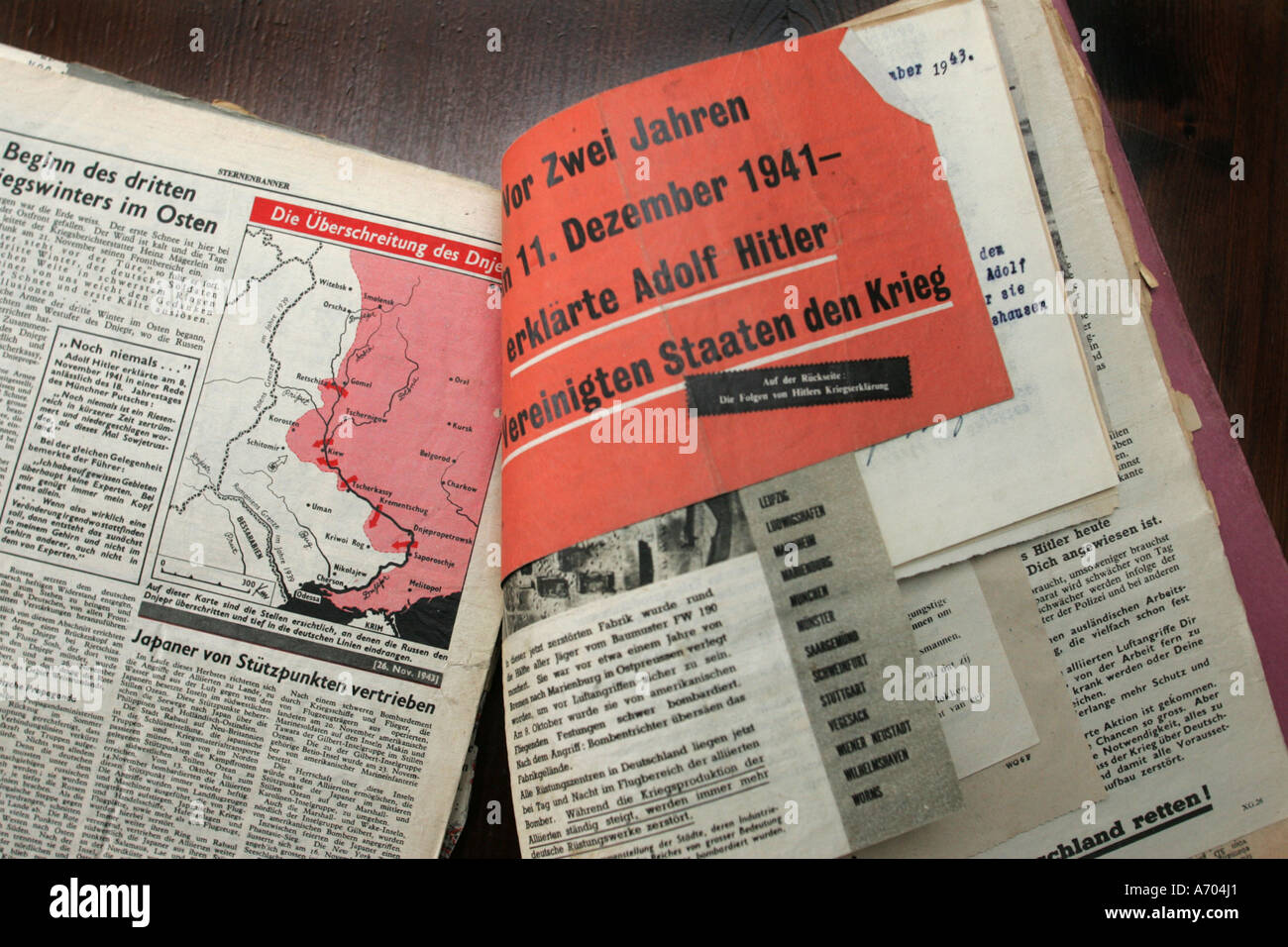 Mannheim, DEU, 17.03.2005, handbill of the Allies dropped off at the end of the 2. World War - Stock Image