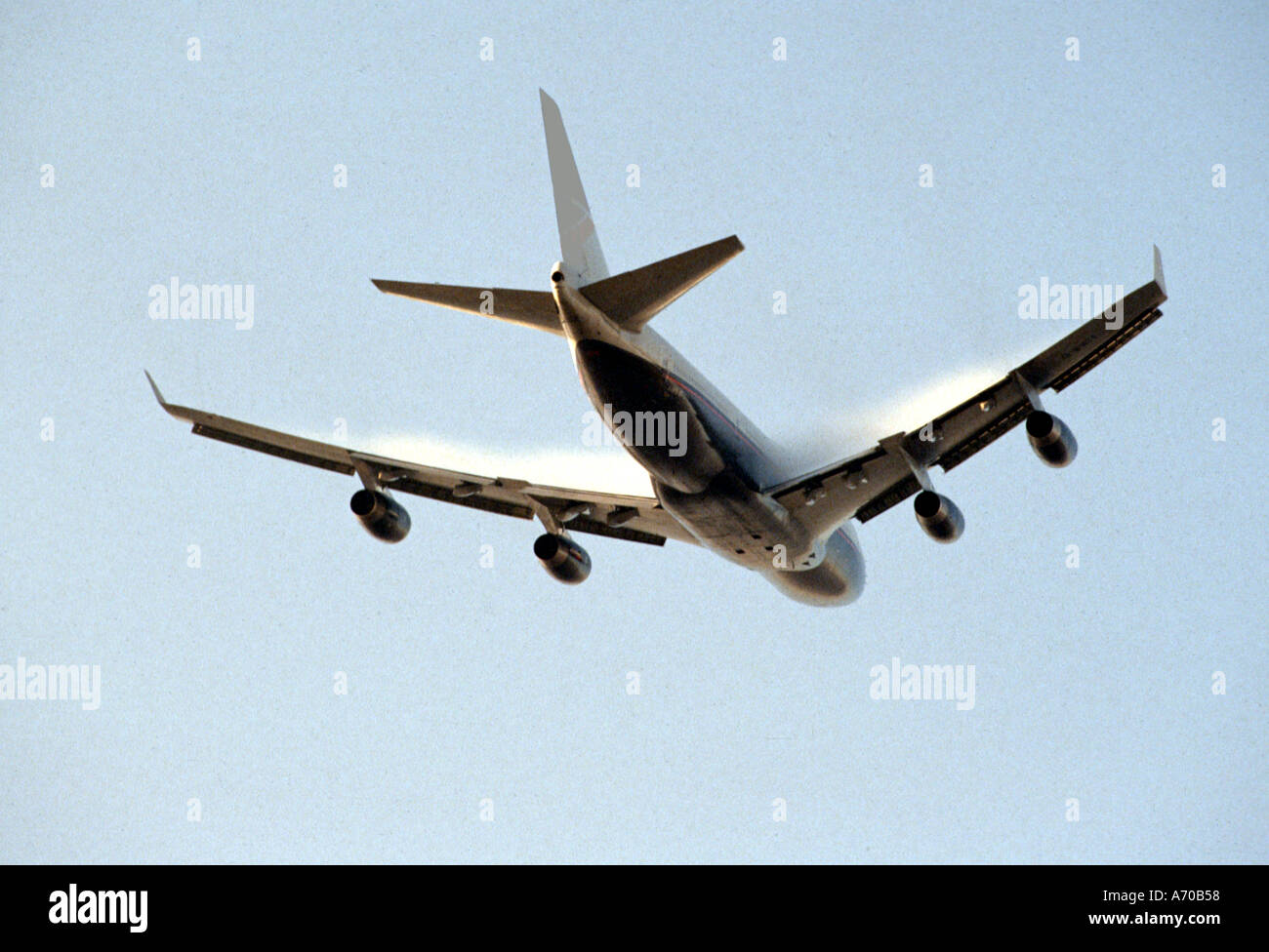 Passenger Aircraft in Flight - Stock Image