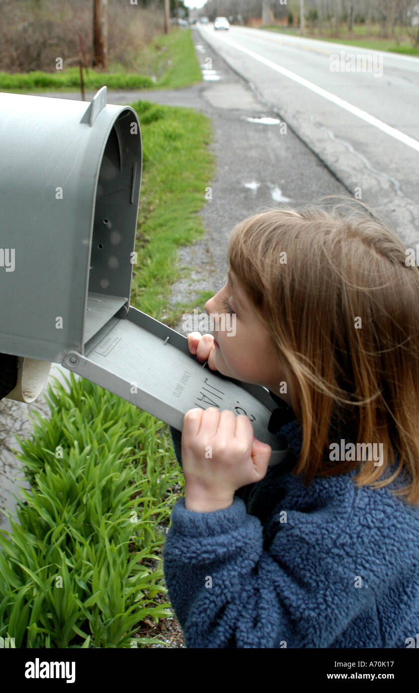Waiting For Mail >> Child Waiting For Mail Stock Photo 3814166 Alamy