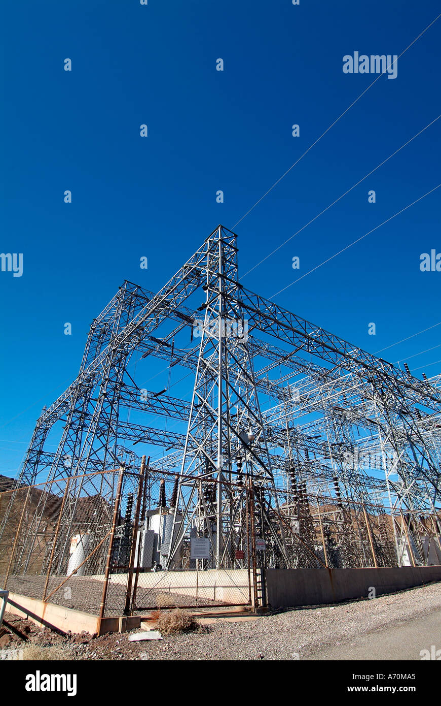 Hoover Dam Electrical Power Plant Stock Photos What Is A At The Image