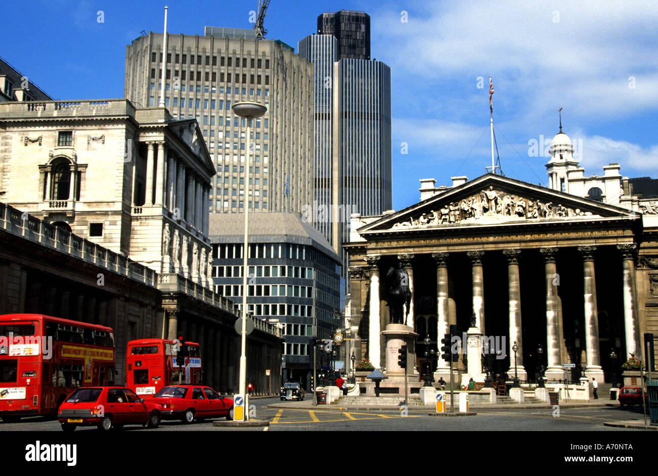 The Royal Exchange City  Stock Bank Banking London - Stock Image