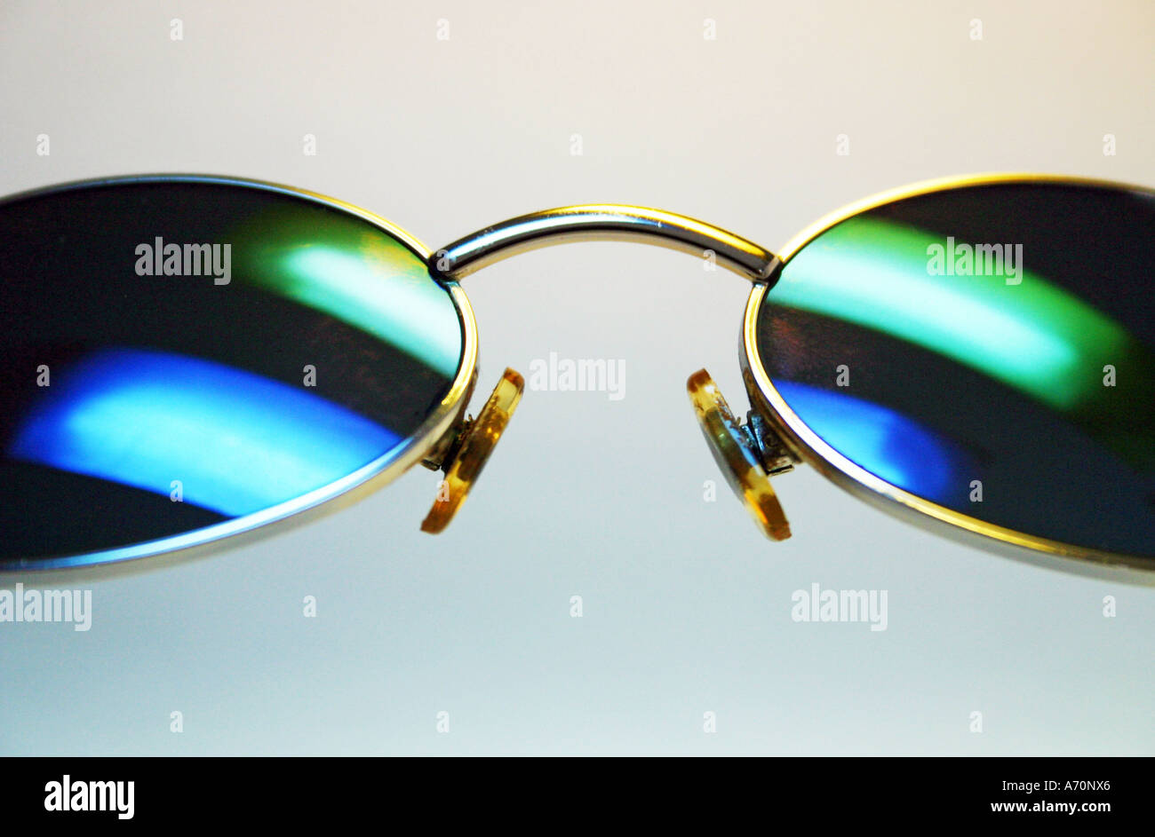 Colourfull lighted sunglass - Stock Image