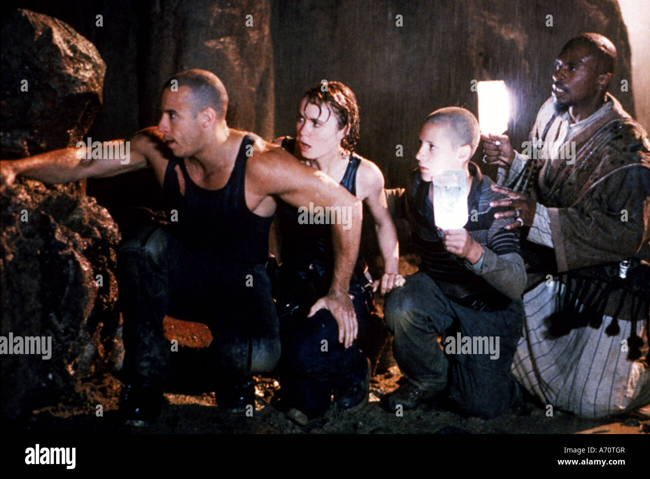 PITCH BLACK 2000 UIP/Gramercy film with Vin Diesel at left - Stock Image