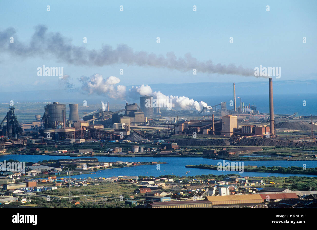 Steelworks, Port Talbort, Wales, UK, GB. - Stock Image