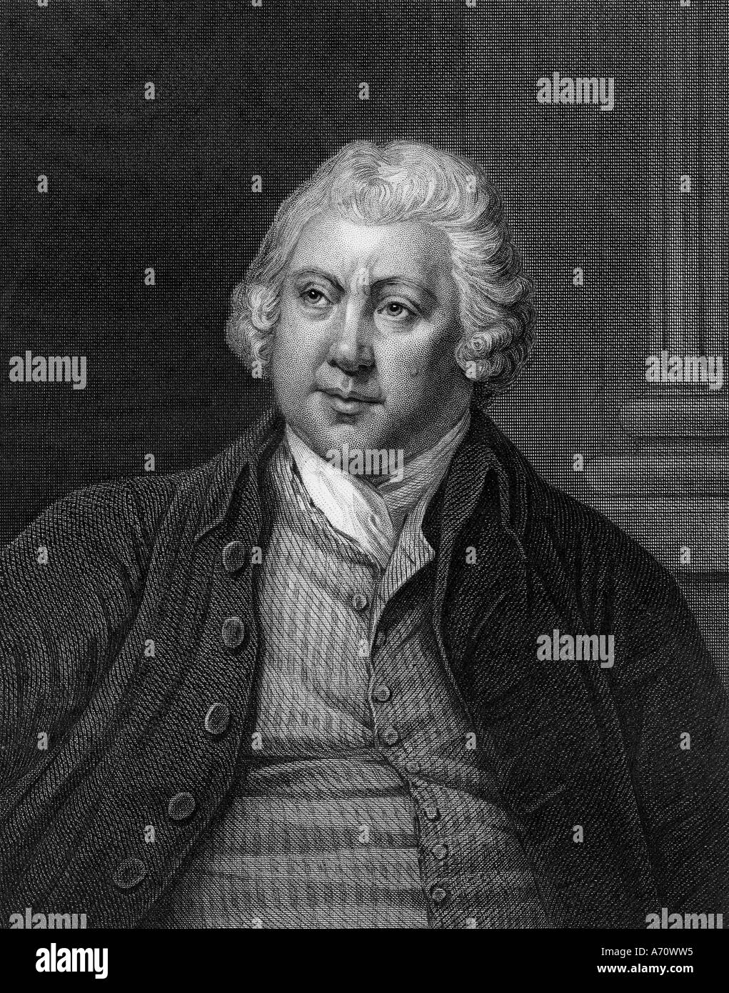 SIR RICHARD ARKWRIGHT 1732 to 1792 English industrialist and inventor of mechanical spinning - Stock Image