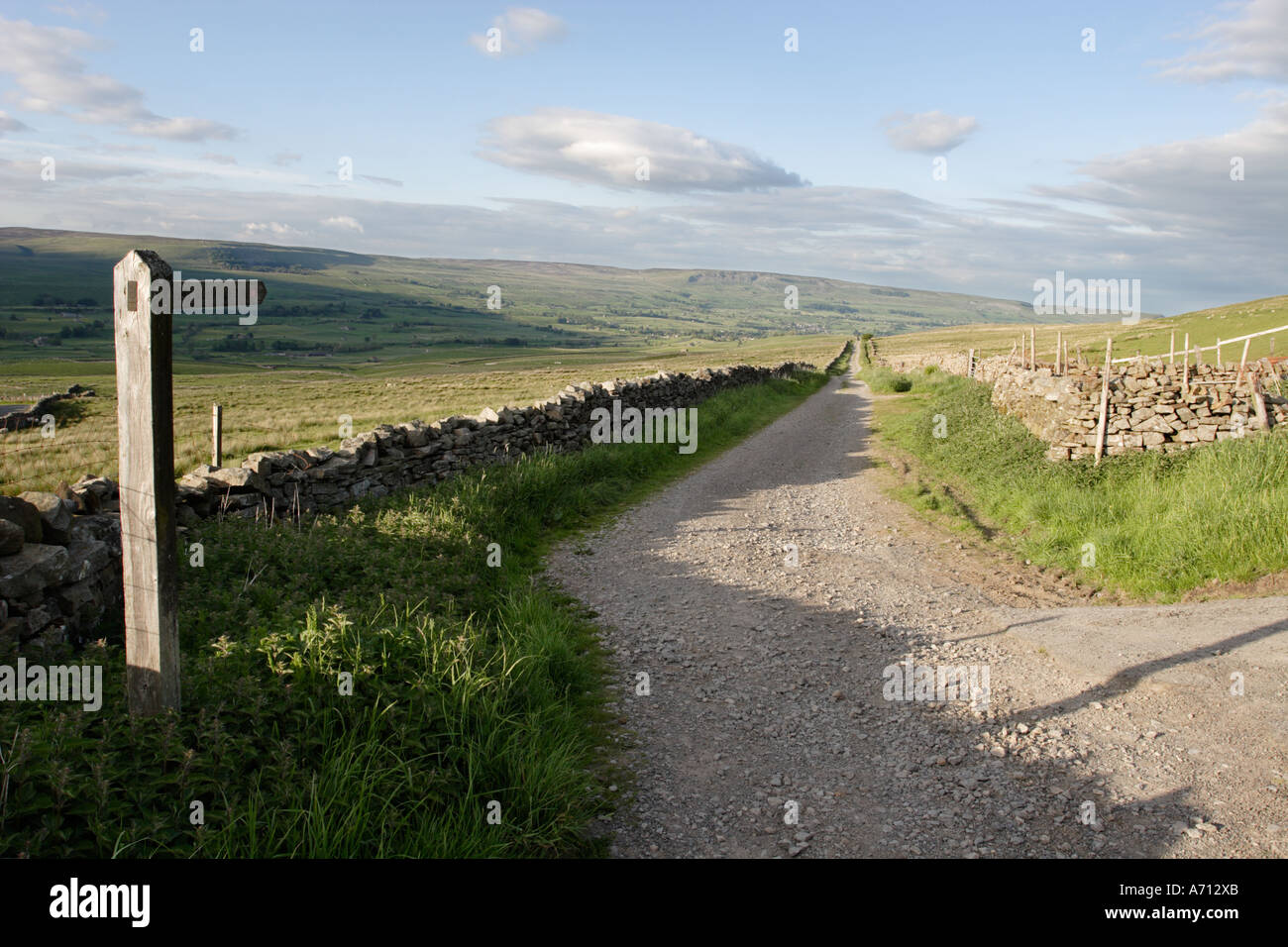 Cam High Road, Wensleydale, Yorkshire Dales National Park Stock Photo