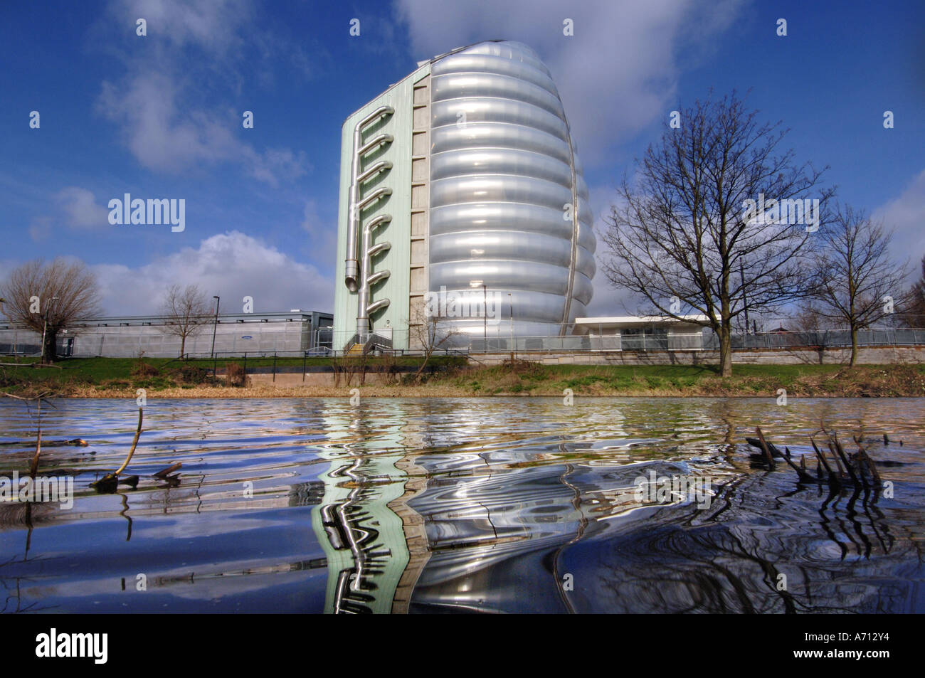 Britains National Space Science Centre on the banks of the River Soar in Leicester - Stock Image
