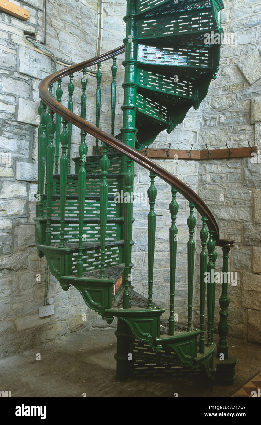 Spiral Staircase In Victorian Folly At Durlson Country Park ...