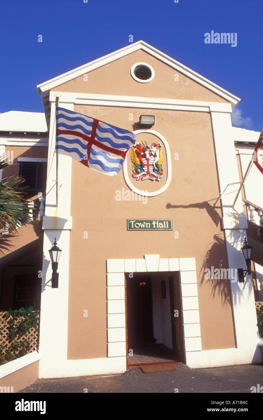 Town Hall in St George Bermuda - Stock Image
