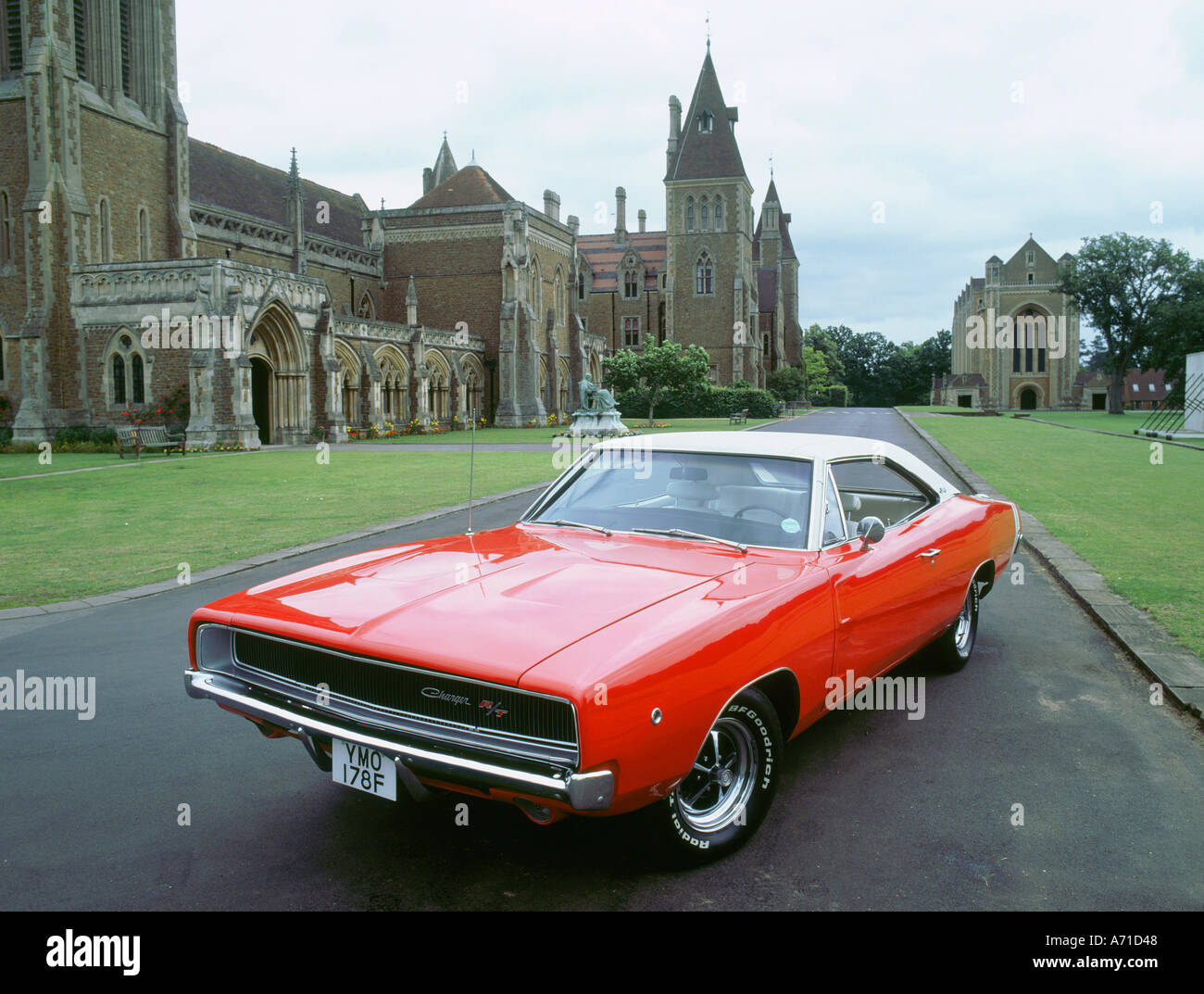 1968 dodge charger 440 magnum - stock image