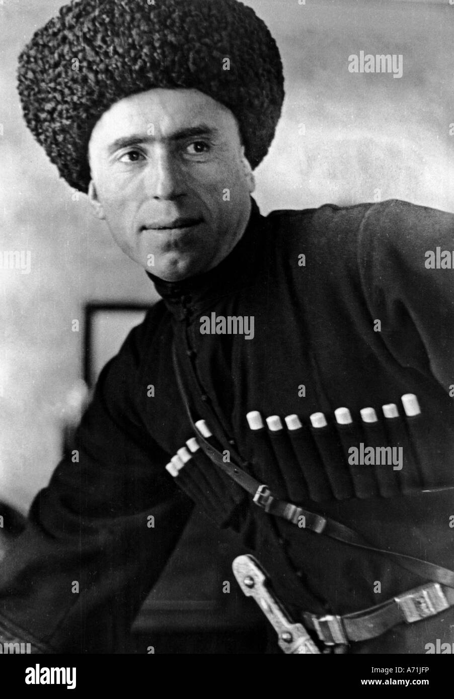 events, Second World War / WWII, foreigners in German service, cossacks, cossack officer, Russia, 1943, Additional - Stock Image