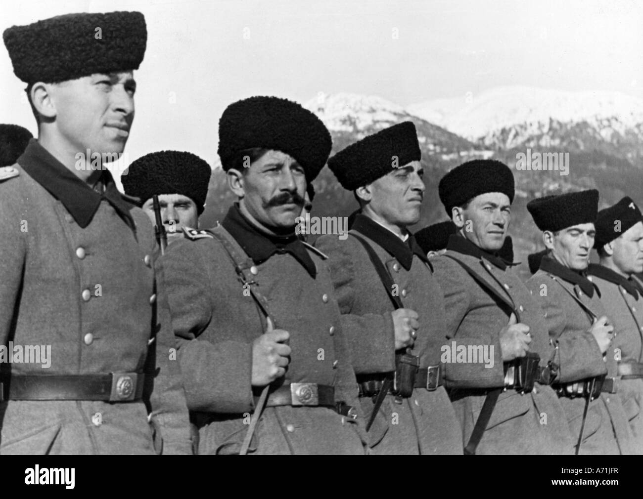 events, Second World War / WWII, foreigners in German service, cossacks, Russia, 1943, Additional-Rights-Clearances - Stock Image