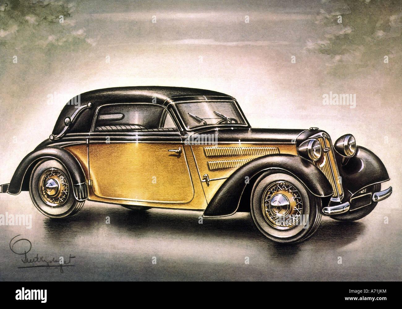 transport/transportation, cars, DKW 1939, drawing, 20th century, car ...