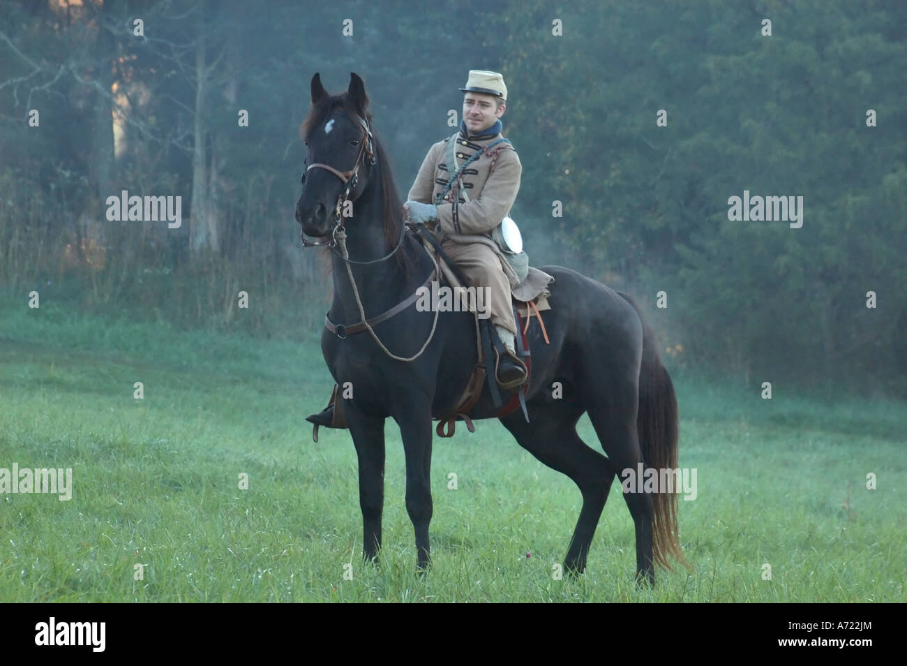 Confederate Cavalry Soldier - Stock Image
