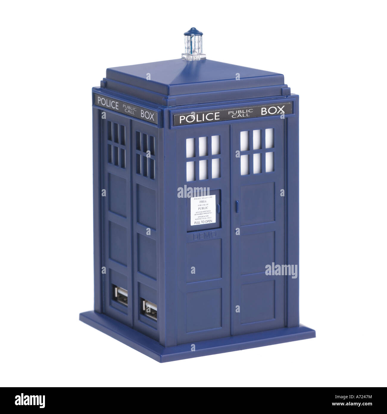 Doctor Who Tardis Police Public call Box - Stock Image