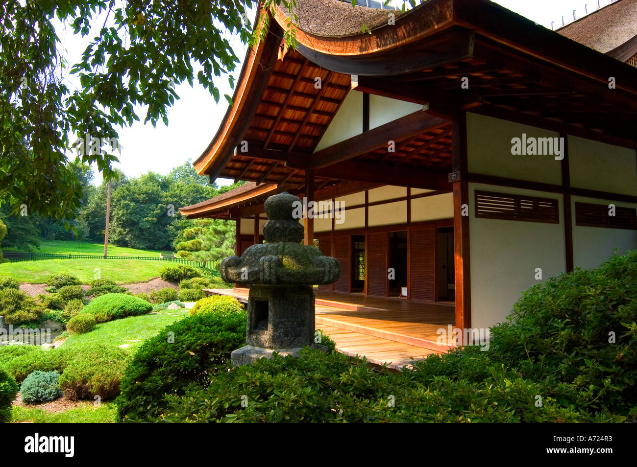 Merveilleux Japanese House And Garden In Fairmount Park In Philadelphia Pennsylvania    Stock Image
