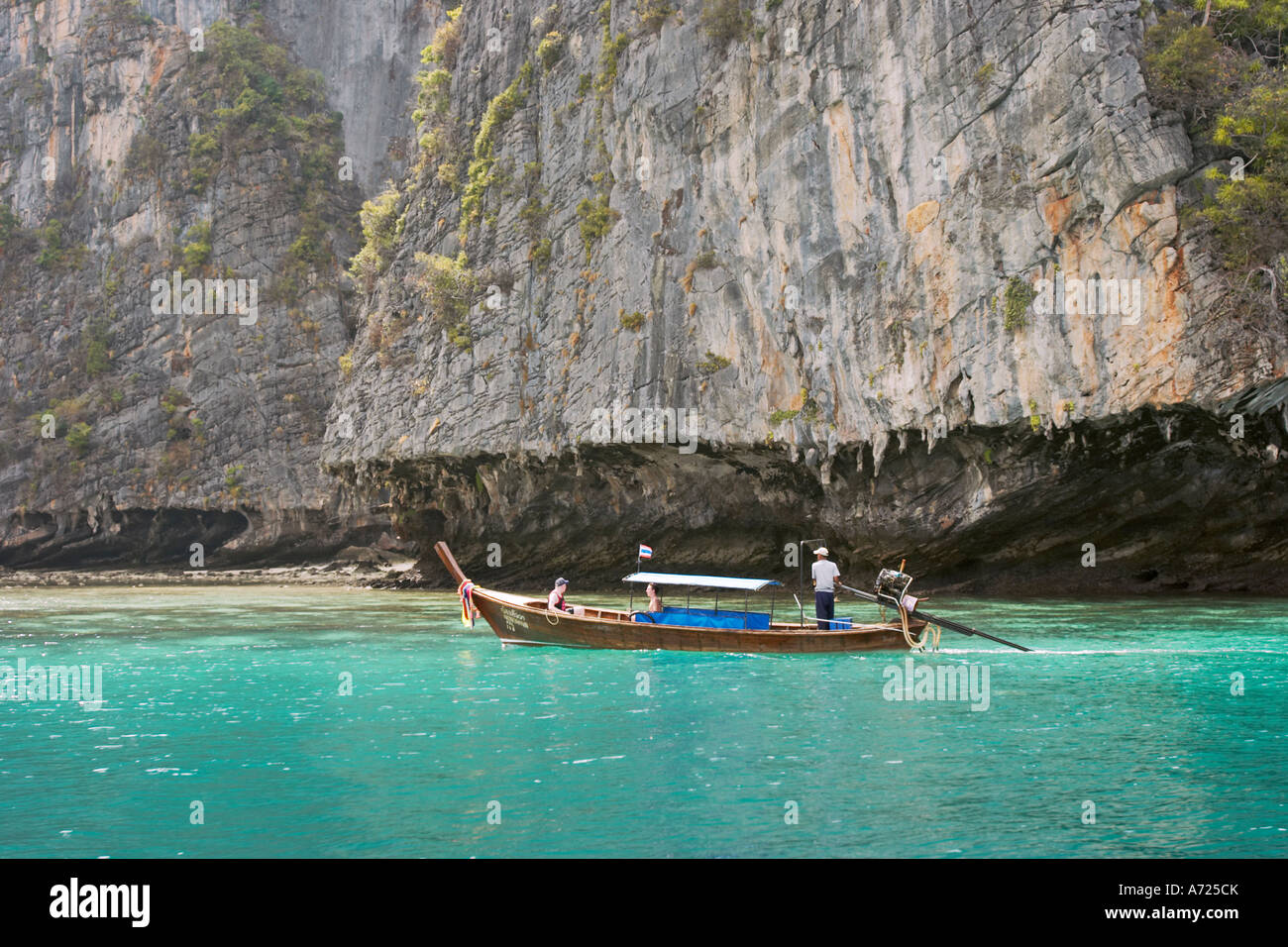 Cliffs of Phi Phi Ley island. Thailand. - Stock Image