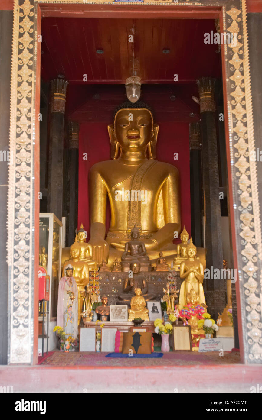 Buddha image. Wat Bupparam, Chiang Mai, Thailand. Stock Photo