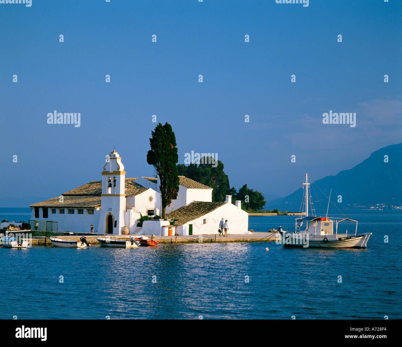 Convent of Panaghia Vlaherna Corfu Ionian Sea Greece - Stock Image