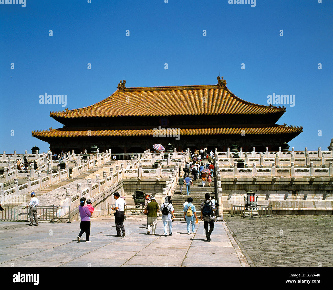 Hall of Supreme Harmony Imperial Palace in the Forbidden City Beijing China Stock Photo
