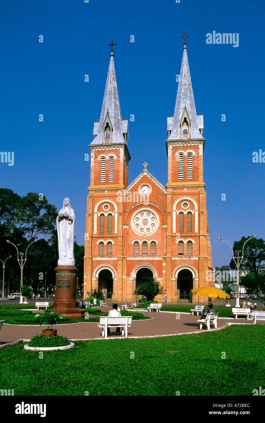 St Maria Catholic Cathedral Ho Chi Minh City Vietnam Stock Photo