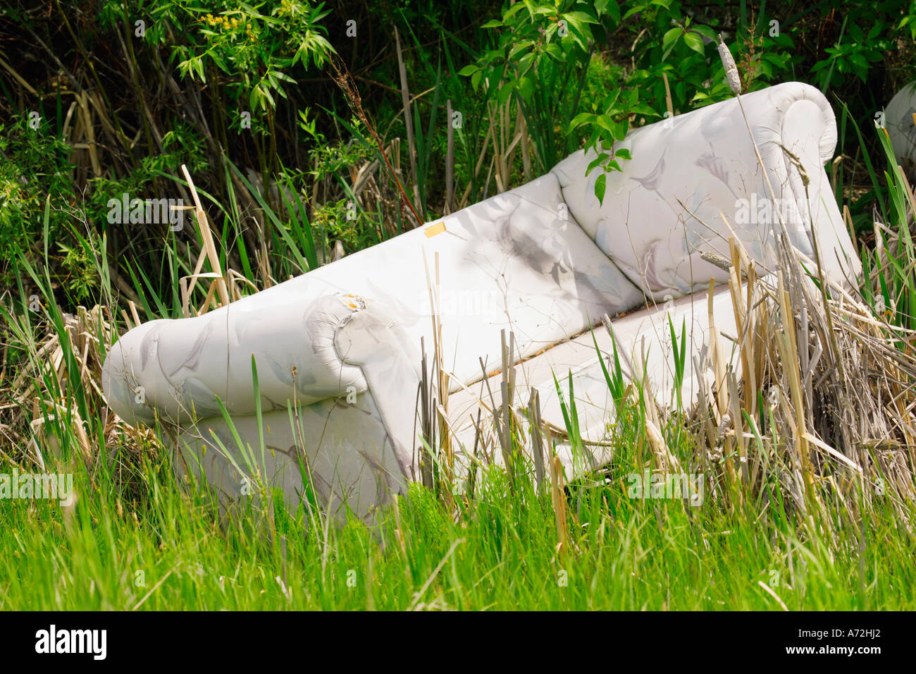 Discarded couch - Stock Image