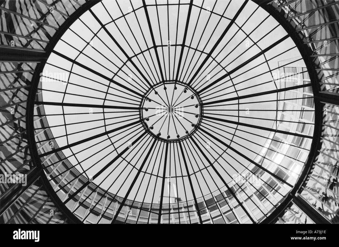 Europe, Switzerland, Zurich. Glass dome of the Stock Exchange Borse - Stock Image