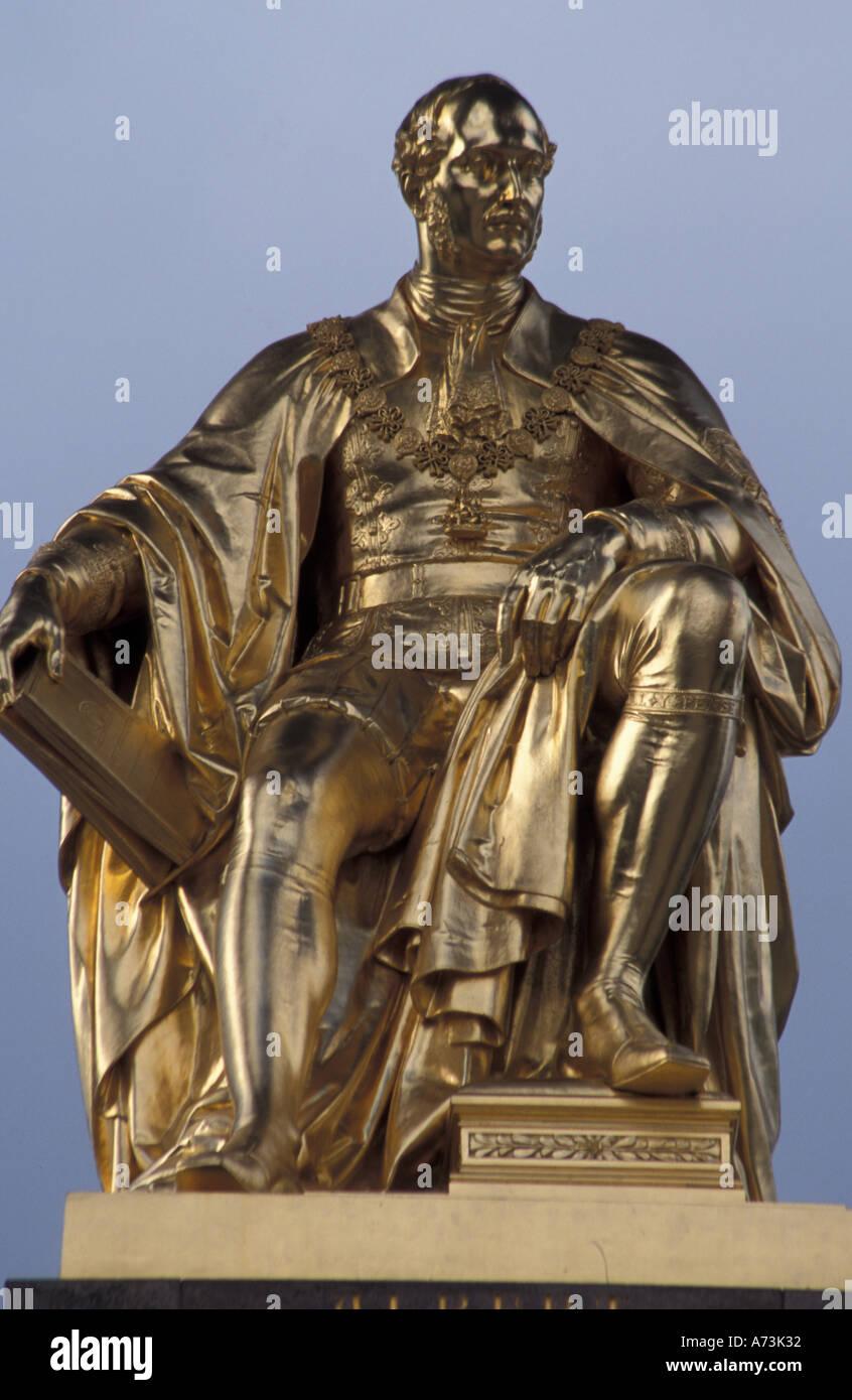 EUROPE, England, London Prince Albert Statue - Stock Image