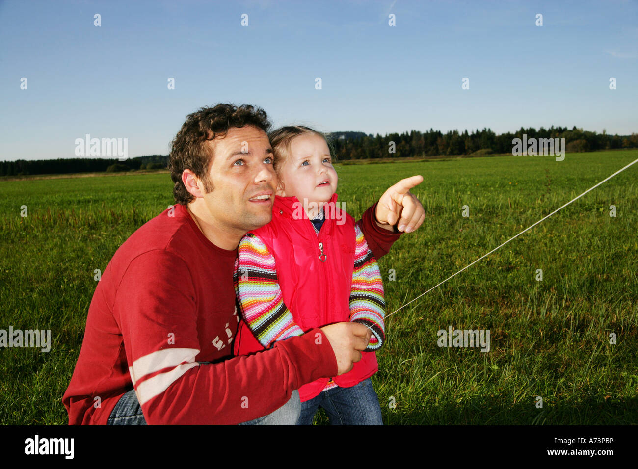 playing with kite - Stock Image