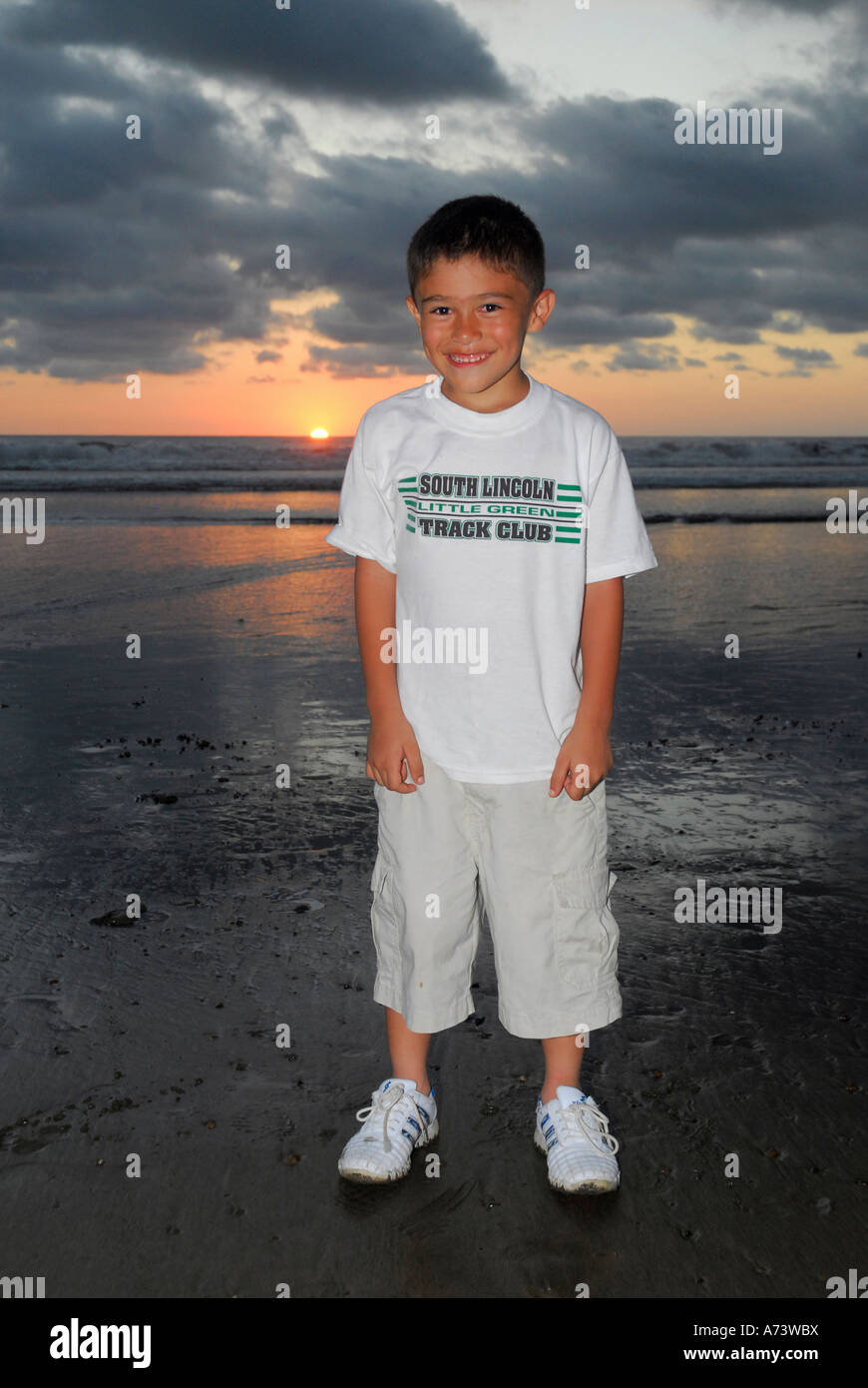 Costa Rican child, Costa Rica, Central America - Stock Image