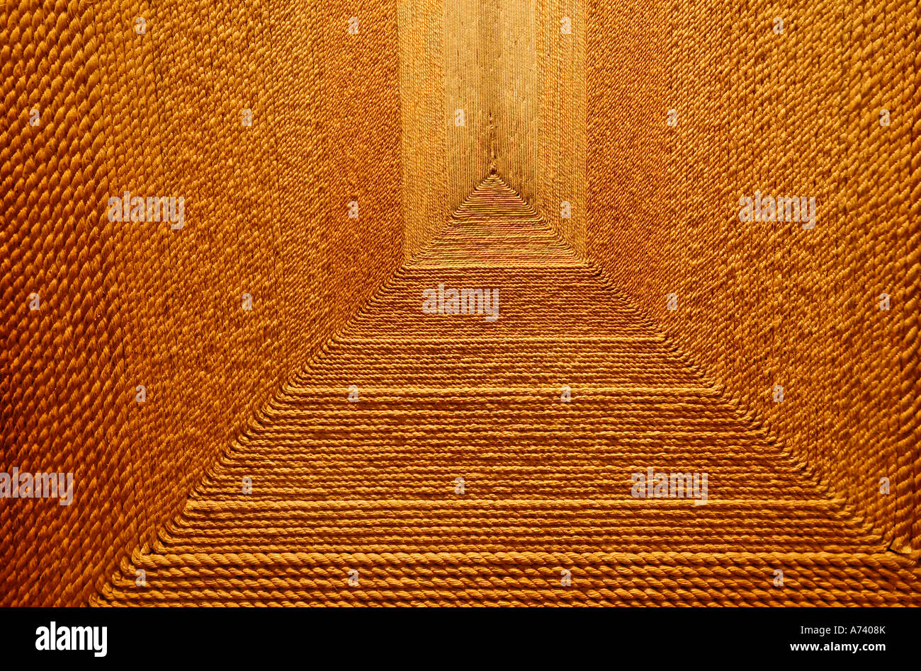 carpet made of sisal Museo Nacional de Antropologia National Museum of Anthropology Mexico City Mexico Stock Photo