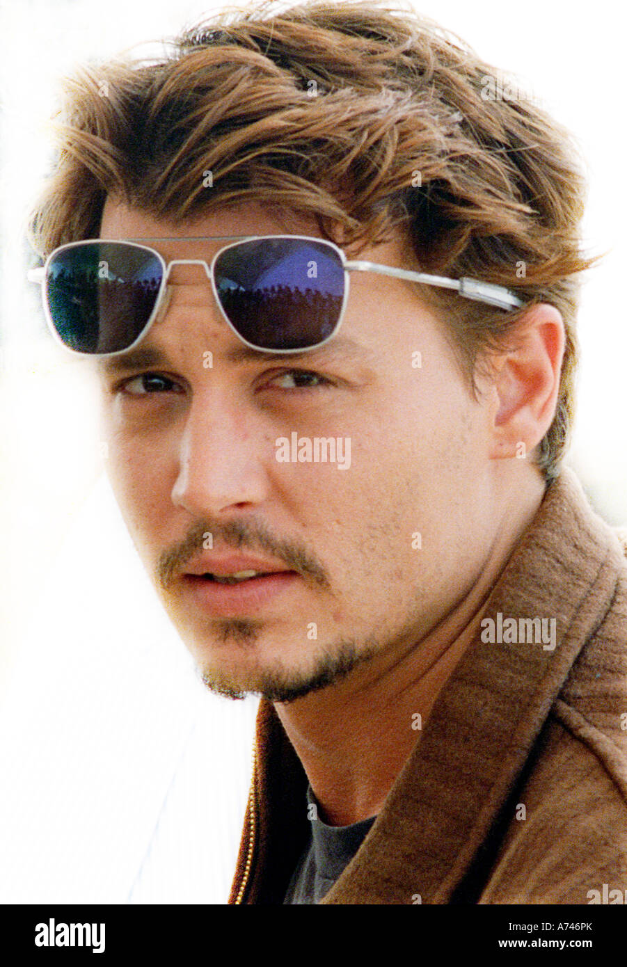 CANNES FILM FESTIVAL FRANCE JOHNNY DEPP ACTOR PROMOTING FEAR AND LOATHING IN LAS VEGAS - Stock Image