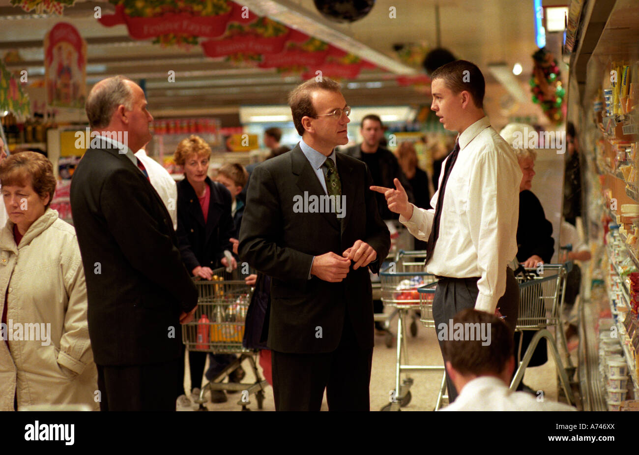 SIR TERRY LEAHY CEO OF TESCOS SUPERMARKET CHAIN Stock Photo