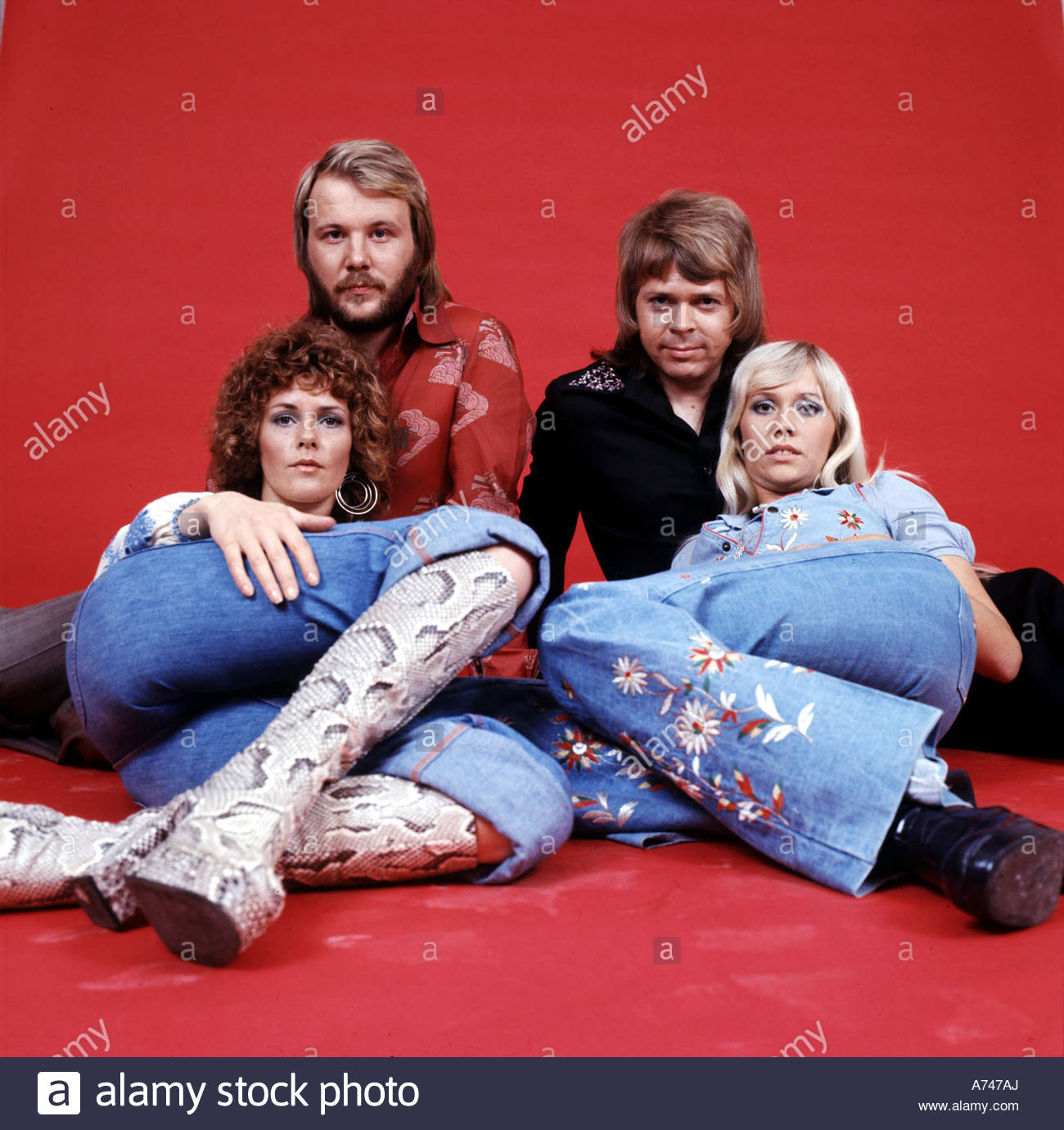 Abba Swedish Pop Group From Left Frida Lyngstad Benny