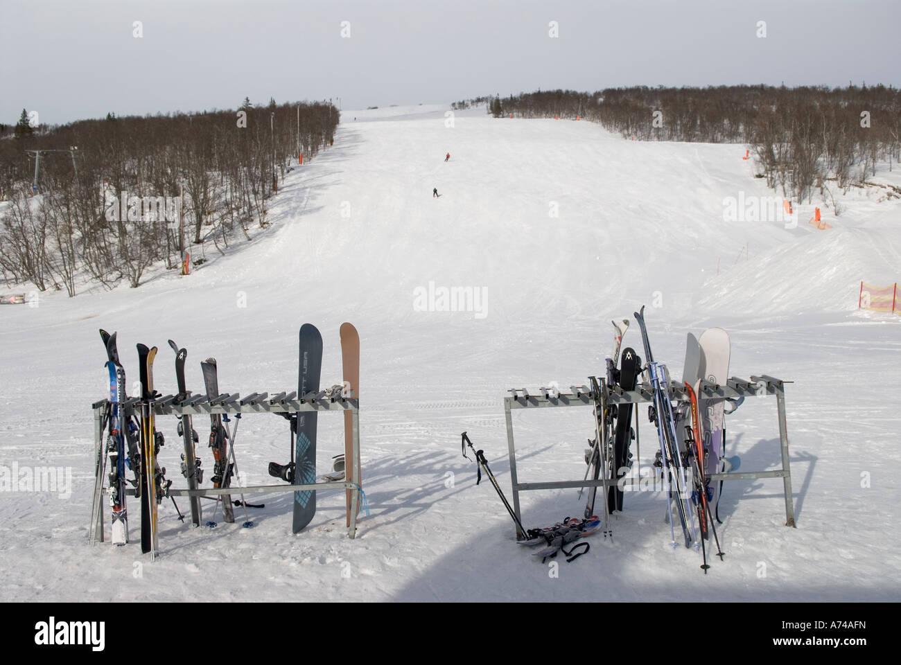 skislope in storlien, sweden stock photo: 11719640 - alamy