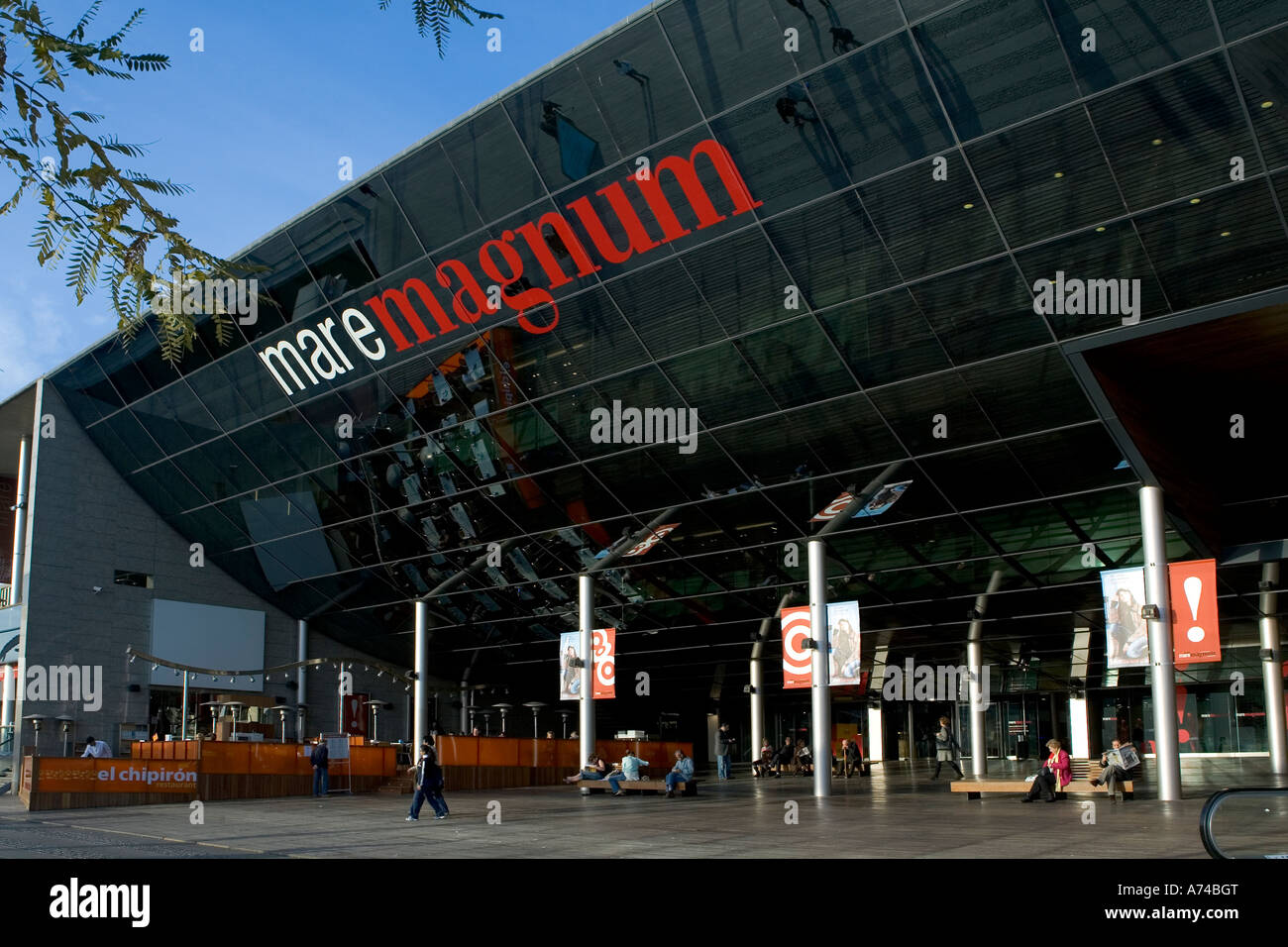 Mare Magnum leisure-shopping complex in Port Vell, Barcelona, Spain - Stock Image