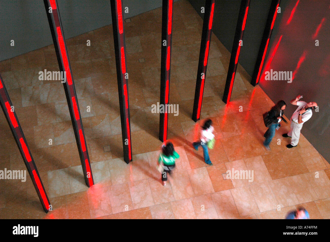 luminous Diodos Jenny Holzer Guggenheim museum BILBAO Biscay Basque Country Spain - Stock Image