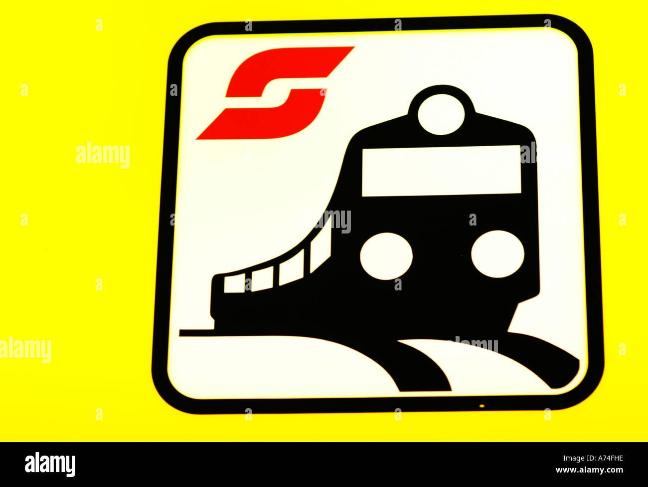 ÖBB, Austrian Railways, railway, sign - Stock Image