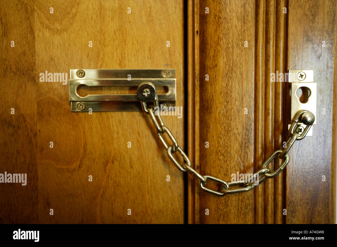 Locked Door With Chain Lock Stock Photo 6698135 Alamy