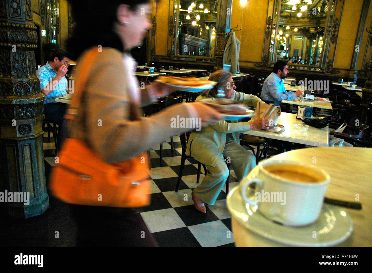 Iruña Coffee in Castle square PAMPLONA Navarre Spain Stock Photo