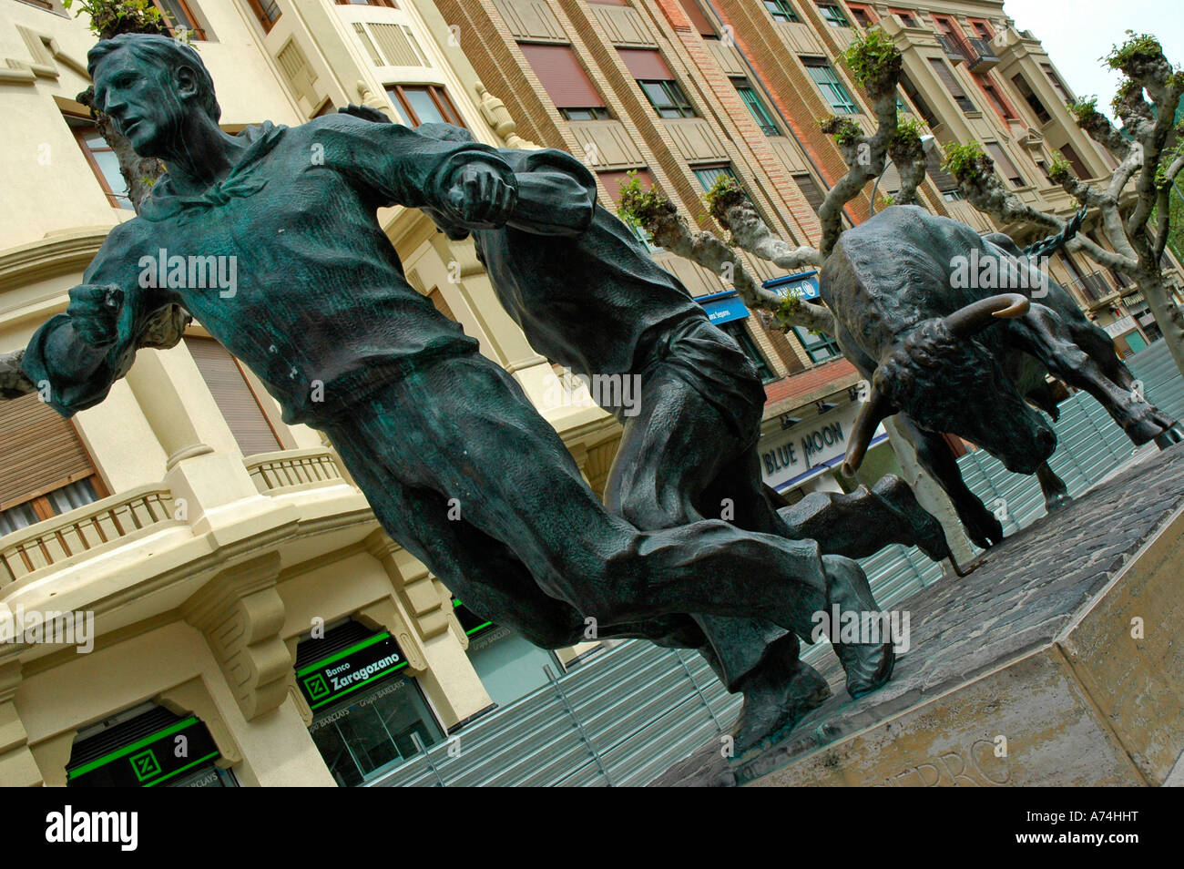 Monument to the confinements of San Fermin PAMPLONA Navarre Spain Stock Photo
