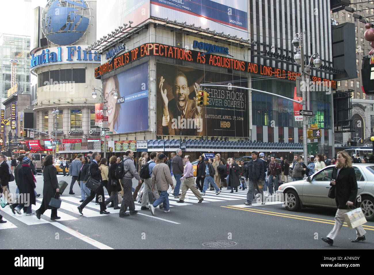 Times Square at 42nd Street, NYC - Stock Image