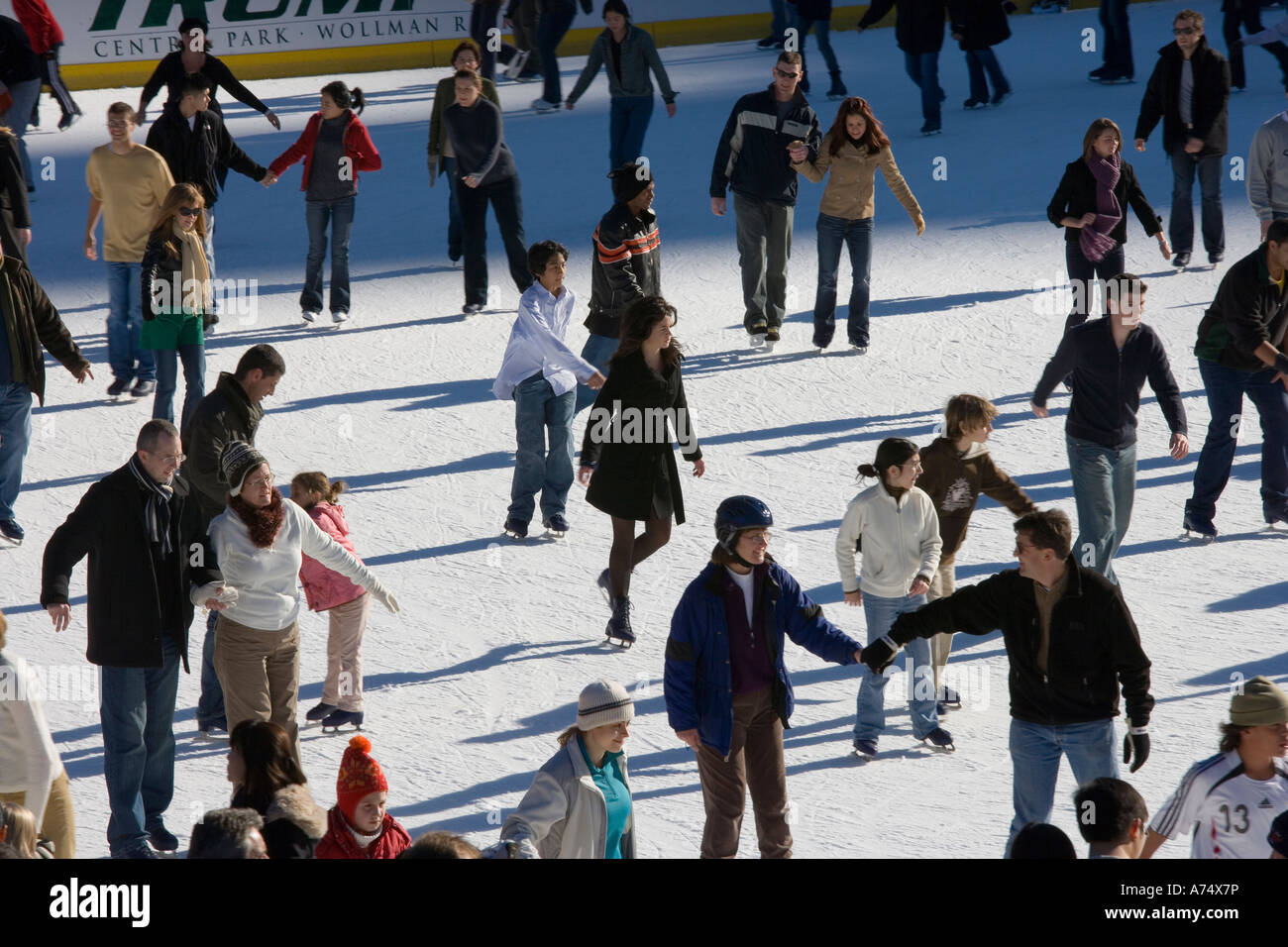 skaters on the ice - Stock Image