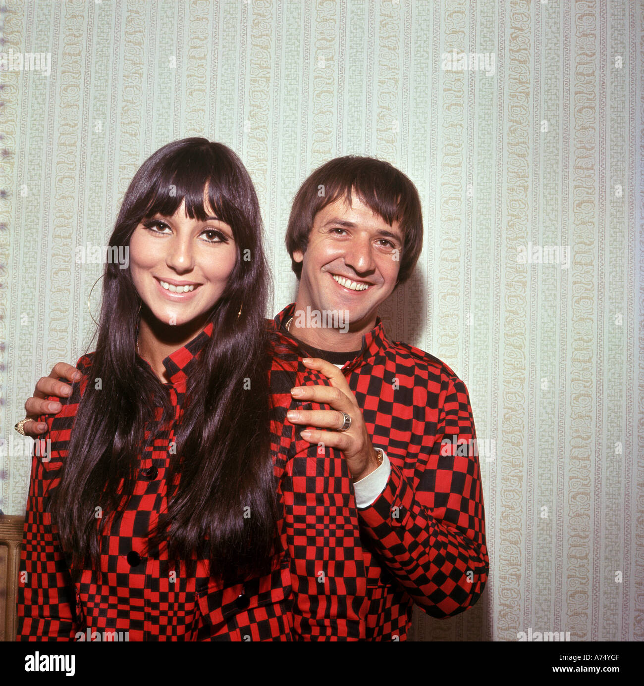 SONNY and CHER US music duo - Stock Image