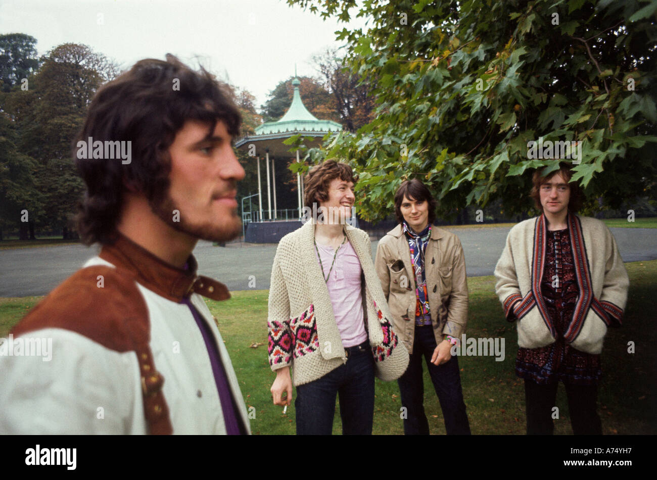 TRAFFIC UK group in 1968 with Steve Winwood second from left - Stock Image