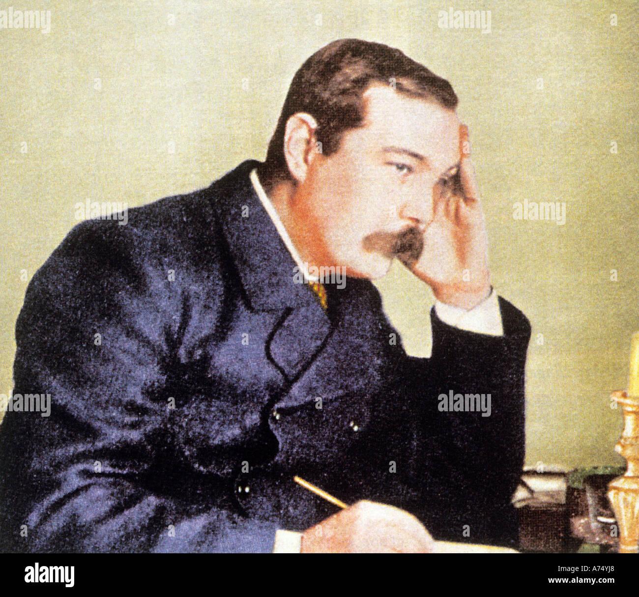 ARTHUR CONAN DOYLE Scottish writer 1859 to 1930 who created Sherlock Holmes - Stock Image