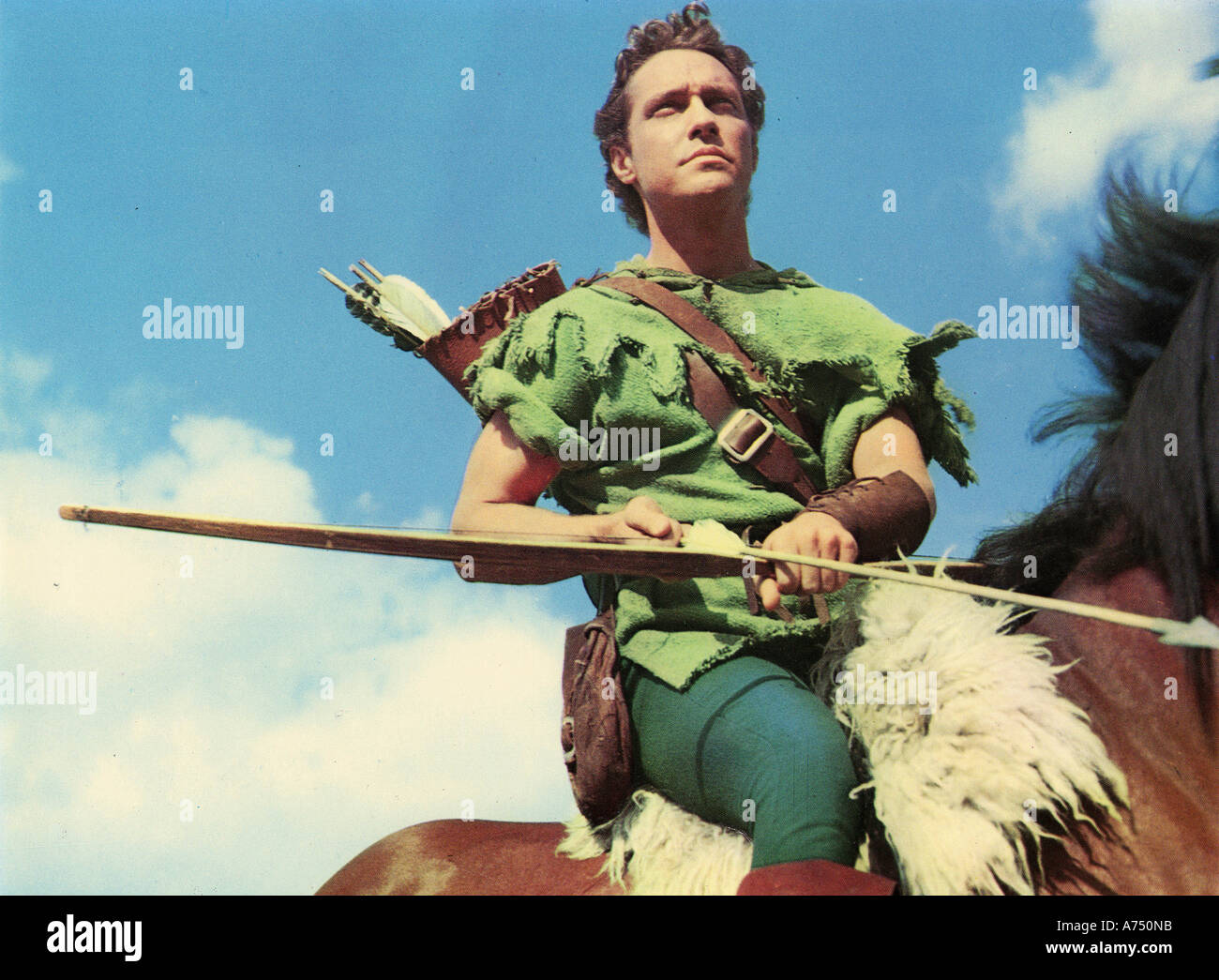 STORY OF ROBIN HOOD AND HIS MERRIE MEN 1952 Disney film with Richard Todd - Stock Image