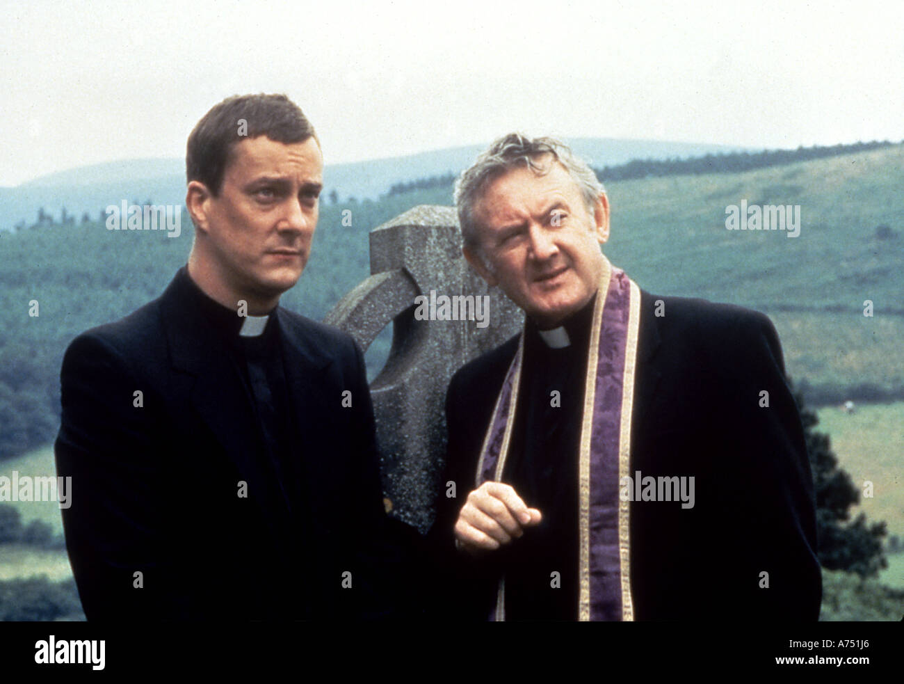 BALLYKISSANGEL UK TV series 1996-2001 with Stephen Tompkinson at left and Niall Tolbin - Stock Image