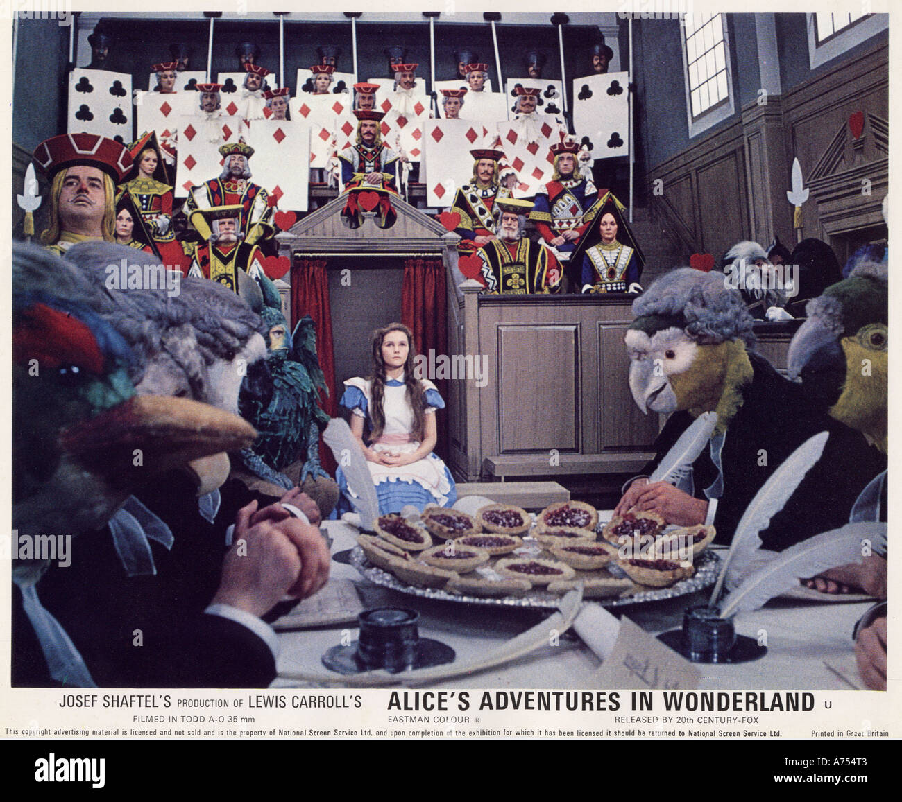 ALICE'S ADVENTURES IN WONDERLAND 1972 TCF film with Fiona Fullerton as Alice - Stock Image