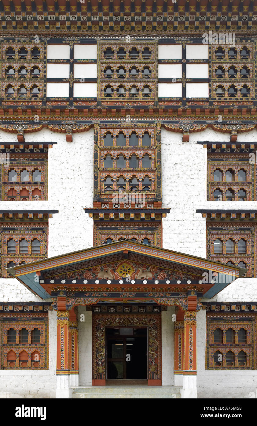National Museum of Bhutan in Thimpu in The Kingdom of Bhutan - Stock Image